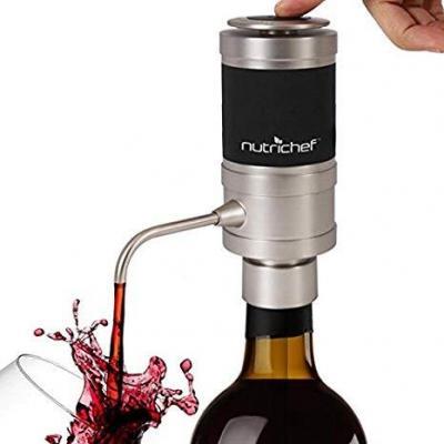 Aireador De Vino Eléctrico De Acero Inoxidable  Sistema único De Difusor De Aire Para Vino Tinto