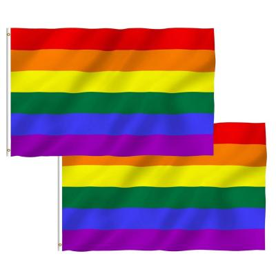 Pack De 2 Banderas Del Orgullo Gay