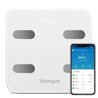 Bascula Baño Yuanguo Bascula Grasa Corporal Bascula Digital Peso para IOS y Android