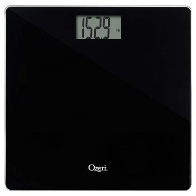 Ozeri, Báscula de baño de precisión (440 libras 200 kg) en cristal templado, con tecnología de sensor de 50 gramos (0, 1 libra 0, 05 kg) y para bebé, mascotas y equipaje