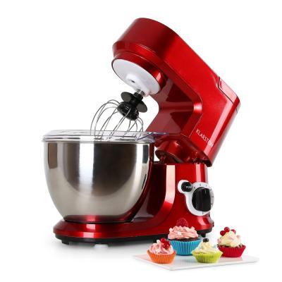 Klarstein Carina Rossa Robot de cocina multifunción Batidora Amasadora 800 W 4 L Batido planetario 6 niveles de velocidad Recipiente de acero inoxidable Bloqueo de seguridad Rojo