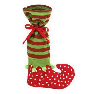 Da.Wa Bolso de Navidad Elf Candy Bag Calcetines de Santa Elf Bottle Bag para el Paquete de Decoración