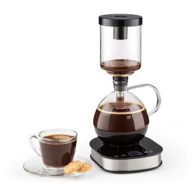 KLARSTEIN Drop Siphon Coffee Maker Cafetera de vacío Pantalla LCD Base 360  Vaso térmico Mantiene el calor Café gourmet