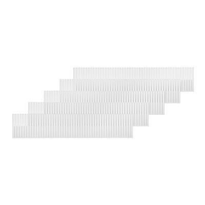 Rayen, Divisor de cajones adaptable. Separador de cajones con infinitas combinaciones. Organizador de cajones multifuncional. 5 unidades de 49.5 x 10 cm