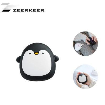 Zeerkeer Banco de energía móvil Banco de energía portátil Cargador de Mano Calentador Mini pingüino Pareja bebé Caliente 3600mAh
