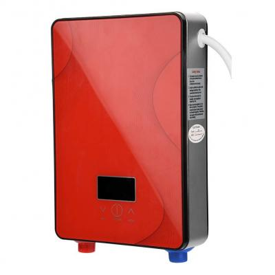 Fdit Socialme-EU 8500W  6500W  3000W Mini Calentador de Agua Eléctrico Instantáneo Sin Tanque 220V Temperatura de Agua de Salida Ajustable para Uso Baño Cocina