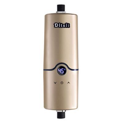 Calentador de agua sin tanque eléctrico instantáneo caliente de 240V 4 niveles de poder 5.5KW 5KW 4.5KW 3.5KW para el color de oro de la cocina del cuarto de baño
