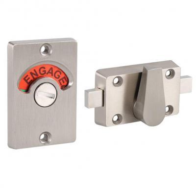 Cerrojo indicador de seguridad para puerta de acero inoxidable con cerradura de inodoro para baño con tornillos y tornillos