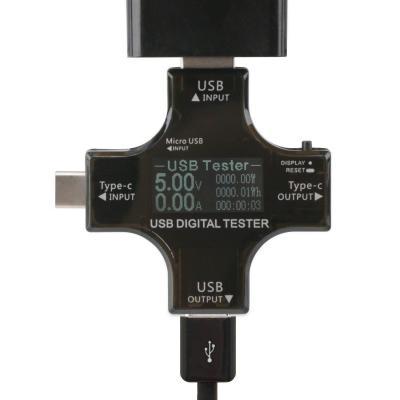USB  Tipo C 2 en 1 multifuncional comprobador DC 3
