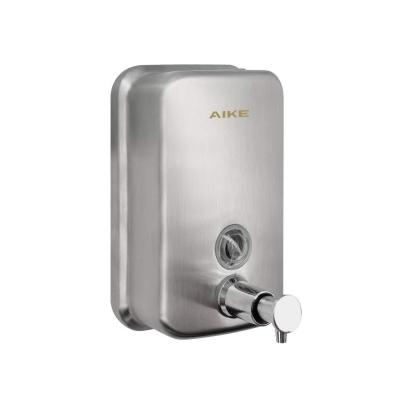 AIKE -AK1001 Dispensador de jabón Manual Pared Acero Inoxidable para Cocina y baño