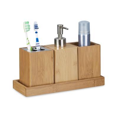 Relaxdays  Set conjunto de 4 piezas para el cuarto de baño