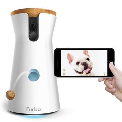 Furbo, Cámara para Perros: Lanzamiento de golosinas, Cámara para Mascotas WiFi HD y Audio bidireccional