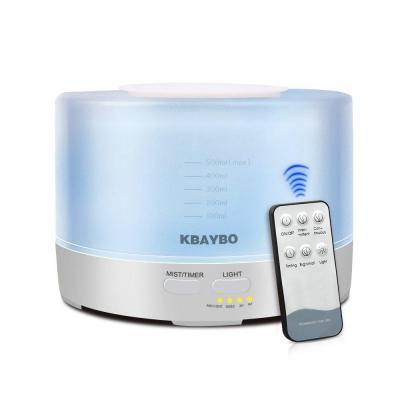 KBAYBO 500ml Control Remoto Aroma Difusor de Aceite Esencial de Aromaterapia Humidificador de Control Remoto con Luces LED de 7 Colores