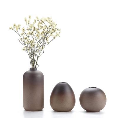T4U Style Antique Ensembles de Vases en Céramique Décoration dintérieur Cadeau Idéal Pour le Mariage Vase à Plantes Hydroponiques Pots de Fleurs 1 paquet de 3