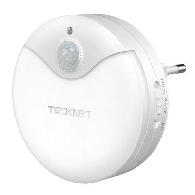 Luz nocturna LED TeckNet Luz LED para escalones con sensor de movimiento y Sensor de luz integrado