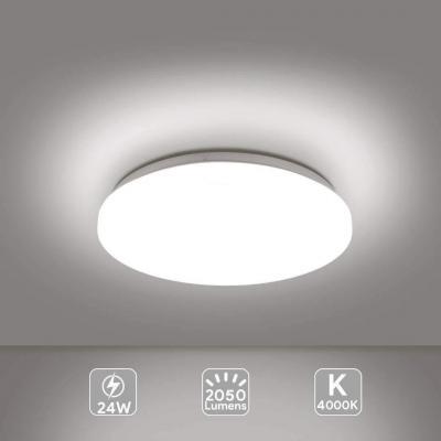 de Luz Pantalla techo Lámpara de de Algodón gris E14 de tela c5q4ALR3j