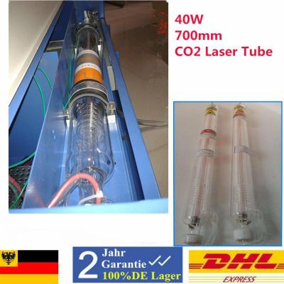 40 W CO2 Laser Tube Laser Tubo 700 mm 10.6μm para máquina de grabado láser CO2