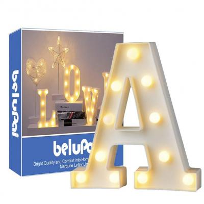 Letras Led Letras Luminosas Decorativas Letras Alphabet Light Luces De Espejo Del Alfabeto A-Z con Luces de LED para Decoración de DIY Wedding Party Dormitorio Decoración de Navidad- Letra A