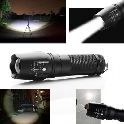 Fenguh Ultrafire 2200LM Zoomable CREE XM-L T6 LED 18650 26650 AAA Flashlight Linterna Focus Torch Light