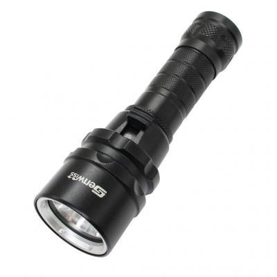 Wolfway Buzo de buceo impermeable ropa interior 3000 Lúmenes XM-L2 LED T6 LED linterna antorcha lámpara de luz para 1 x 18650 batería recargable Para Cámping Ciclismo Caza Pesca Equitación Paseos