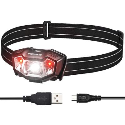 VicTsing Linterna Frontal LED USB Recargable