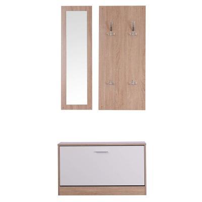 Homcom 3 En 1 Conjunto De Muebles De Entrada