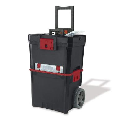 Keter 231805 Caja de herramientas en ruedas Martillo Mastercart con organizador