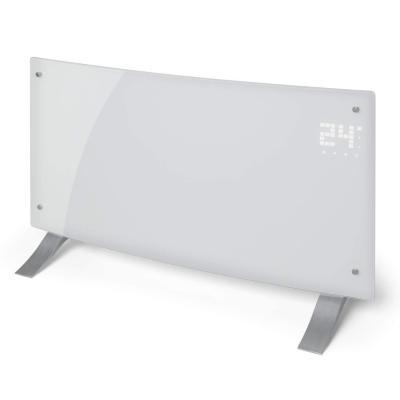 Klarstein Bornholm Curved Convector calefactor Calefactor eléctrico Radiador 2000W Modo ECO Protección sobrecalentamiento y antisalpicaduras Seguro para niños Blanco