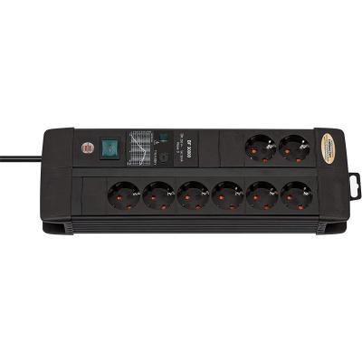 Brennenstuhl Premium-Line Regleta con protección contra sobretensiones 8 tomas negro con interruptor
