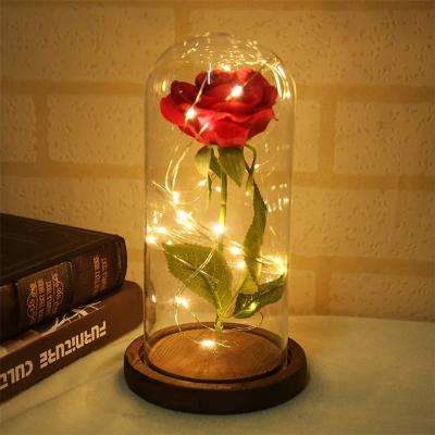 Supertop Multi Led Rose Glass Dome La Bella Y La Bestia
