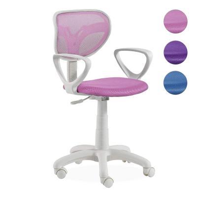 Adec, Touch, Silla de escritorio giratoria, silla juvenil de oficina, color Rosa, medidas: 54 x 93-109 cm de altura