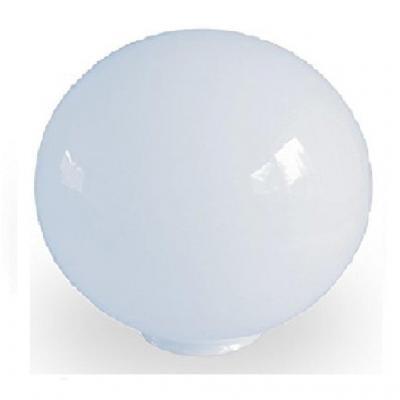 20.0cm de diámetro Blanca de vidrio esféricos pantalla de lámpara. Circunferencia: 63cm